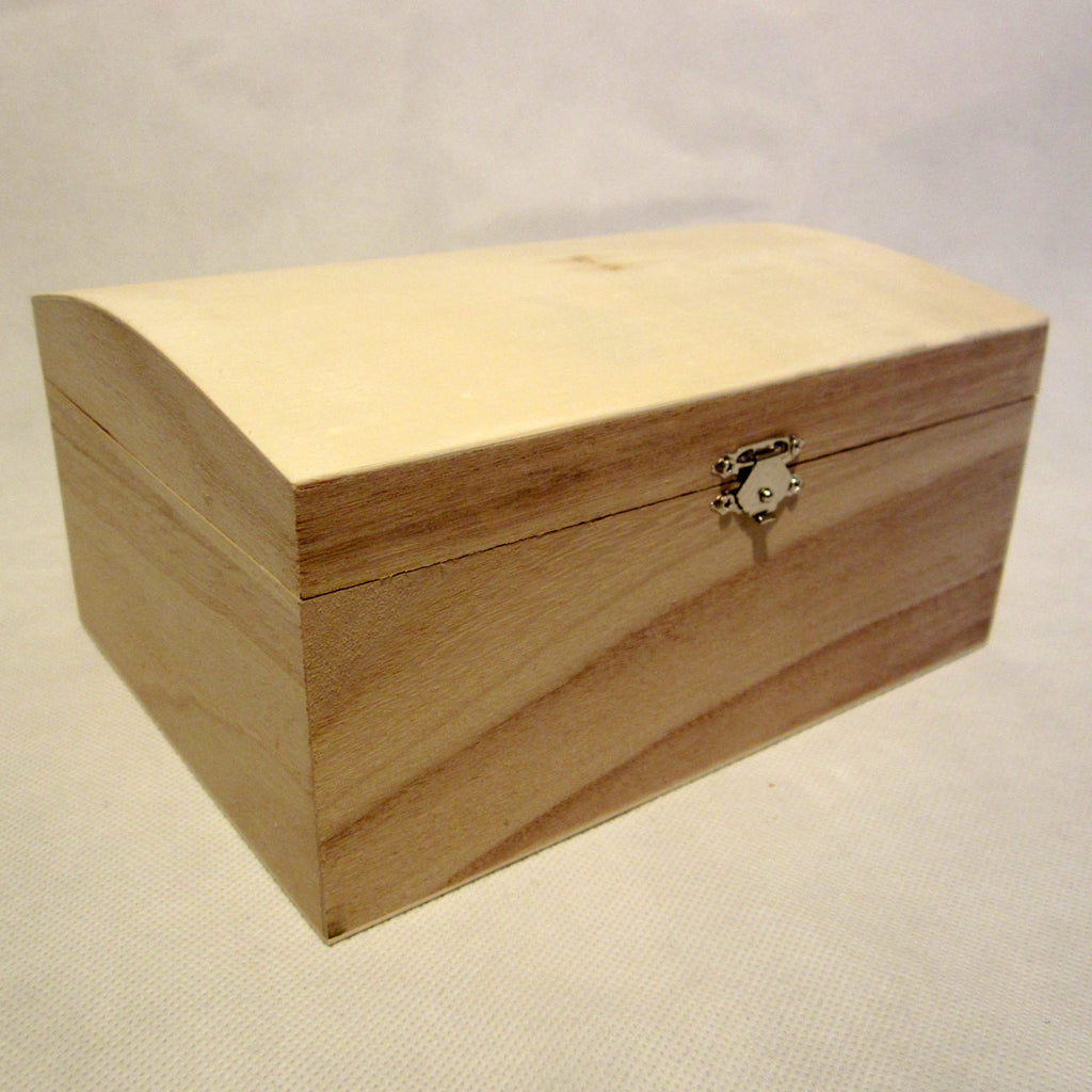 Wooden Chest, Storage Box, Untreated Natural Wood, Large, Vintage, Treasure, DIY