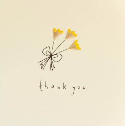 Pencil Shaving Card, Thank You