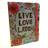 'Live Love Laugh' Creative Ideas Journal Notebook with Adult Colouring Pages