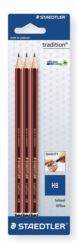 Staedtler Tradition Blyanter School Office 110-HBBK3D (3 stk)