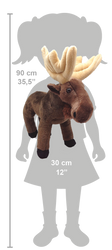 Wild Republic Elg Bamse - CK Moose Brown Legs 30 cm