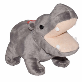 Wild Republic Lille Flodhest Bamse med realistiske lyde - Wild Calls Hippo with Authentic Sounds 18 cm