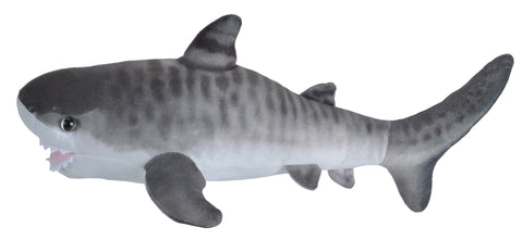 Wild Republic Lille Tigerhaj Bamse - Living Ocean Mini Shark Tiger 20 cm