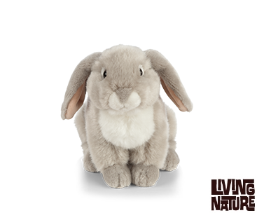 "Living Nature Fransk vædder Bamse 27 cm - ""French Lop-Eared Rabbit"""