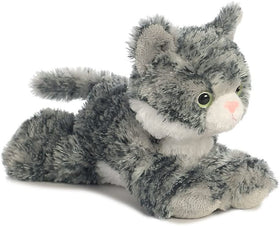 Aurora World Lille Kat Bamse - Flopsie Grey Tabby Cat 20 cm