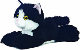 Aurora World Lille Kat Bamse - Mini Flopsie Maynard Black & White Cat 20 cm