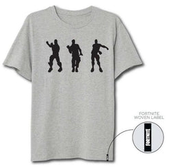 Fortnite Dancing Grey t-shirt til voksne (S, M, L, XL)