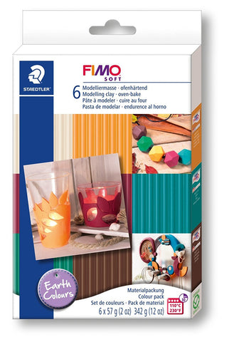"Steadtler Fimo Soft modeller sæt ""Earth Colours"" 6 Blokke"
