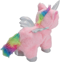 Wild Republic Animeret Enhjørning Bamse - Shimmer The Magical Animated Unicorn 24 cm