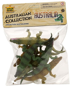 Wild Republic Australske Dyr figurer - Australian Crocodile Collection 6 stk.