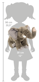Wild Republic Elefant Bamse - CK Elephant Adult 30 cm
