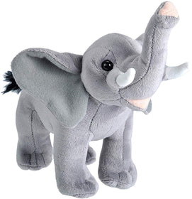 Wild Republic Lille Elefant Bamse med realistiske lyde - Wild Calls Elephant with Authentic Sounds 18 cm