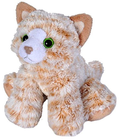 Wild Republic Lille Kat Bamse - Hug'ems Mini Orange Tabby Cat 18 cm