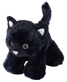 Wild Republic Lille Sort Kat - Hug'ems Black Cat 18 cm
