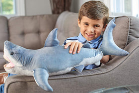 Wild Republic Stor Hvid Haj Bamse - Living Ocean Great White Shark 60 cm