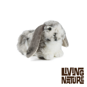 "Living Nature Hollandsk Dværgvædder Bamse 27 cm - ""Lop-Eared Rabbit"""