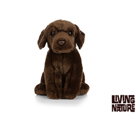 Living Nature Chocolate Labrador Hund 22 cm (medium)