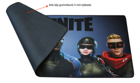 Fortnite Gamer Musemåtte Stor XXL Model D 89 cm x 38 cm
