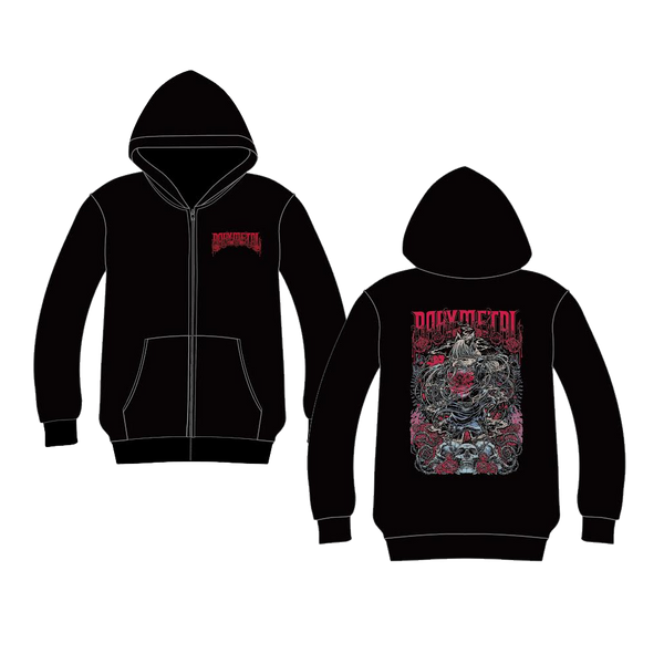 California Metal Fox Turn Back Zip Hoodie