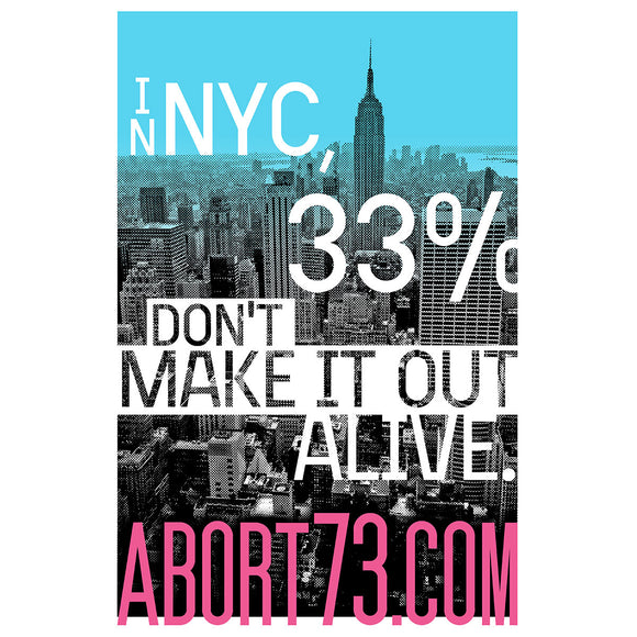 In NYC, 33% Don't Make it Out Alive.