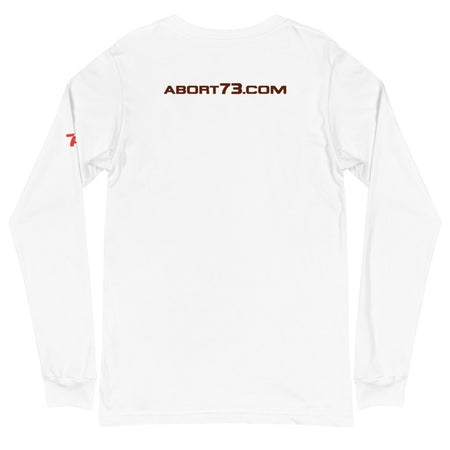 Abort73.com (Logo-Bar): Unisex, Long-sleeved T-shirt