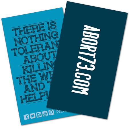 There is Nothing Tolerant About Killing the Weak and the Helpless: Promo Cards (50 pack)