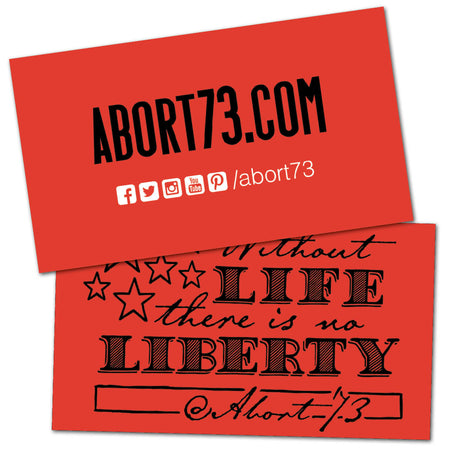 Without Life, There is No Liberty: Promo Cards (50 pack)