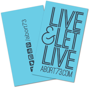 Live & Let Live: Promo Cards (50 pack)