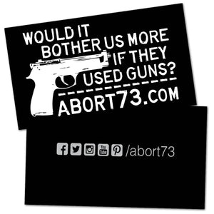 Would it Bother Us More if They Used Guns? Promo Cards (50 pack)