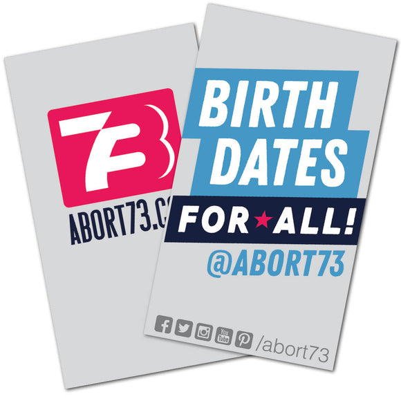 Birth Dates for All!: Promo Cards (50 pack)
