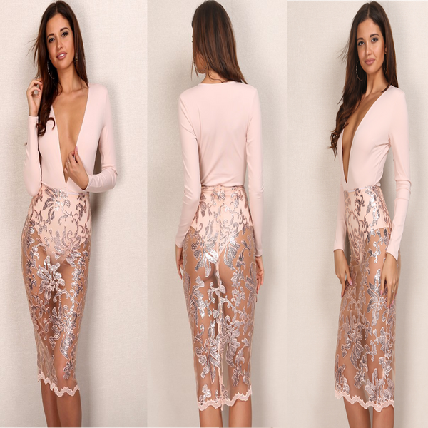 ROZAY DRESS- BLUSH PINK