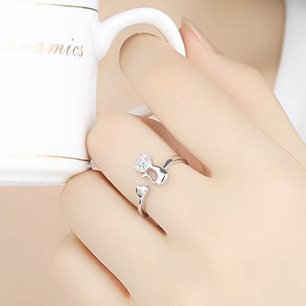 Opening Ring Shaped Cat For women
