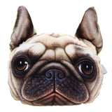 3D Dog face Headrest Pillow
