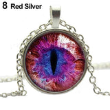 Colored Dragon Cats Eye Necklace