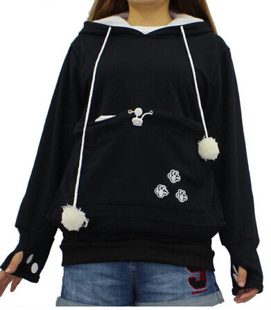 Cat Lovers Hoodies With Cuddle Pouch Mewgaroo