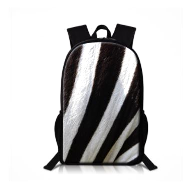Zebra Backpack Shoulder Bag