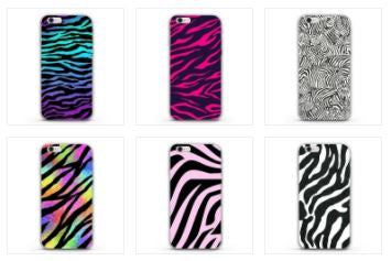 Colorful Neon Zebra Soft TPU Silicon Phone Cover Case For iPhone