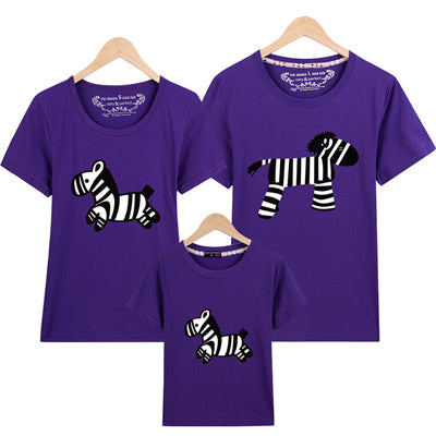 Family Matching T-Shirts Zebra EDS Awareness 1pc