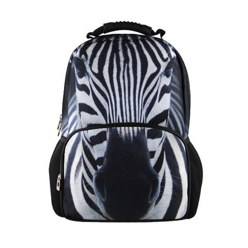 Black and White Zebra backpack