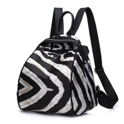 Zebra Pattern Womens Backpack Purse