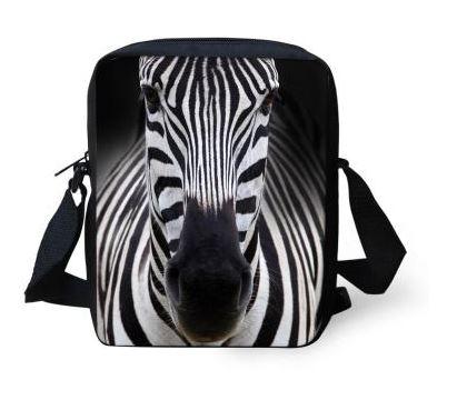 Messenger Bag 3D Animal Zebra Print Handbag