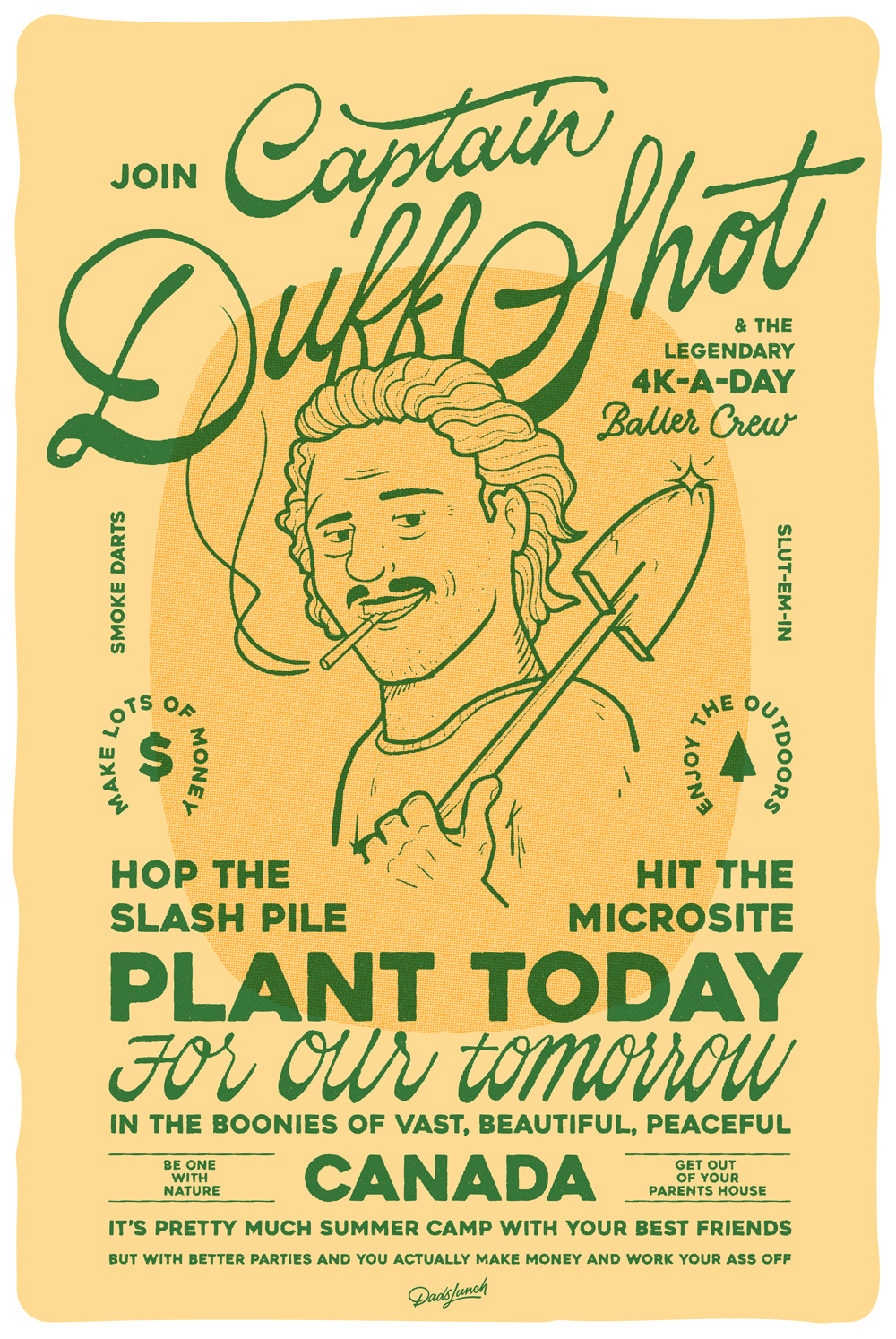 'Captain Duff Shot' Print