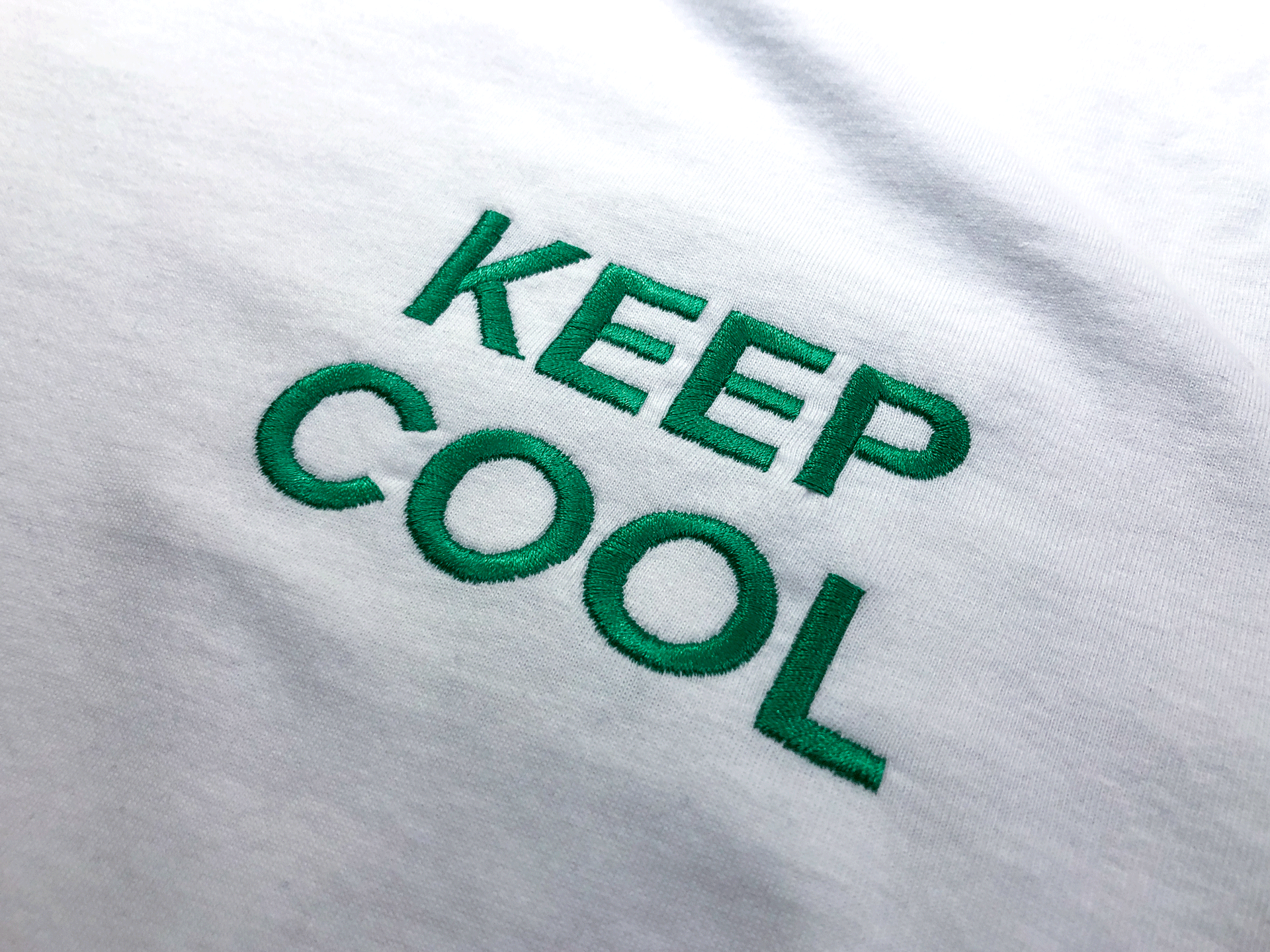 'KEEP COOL' Embroidered Tee