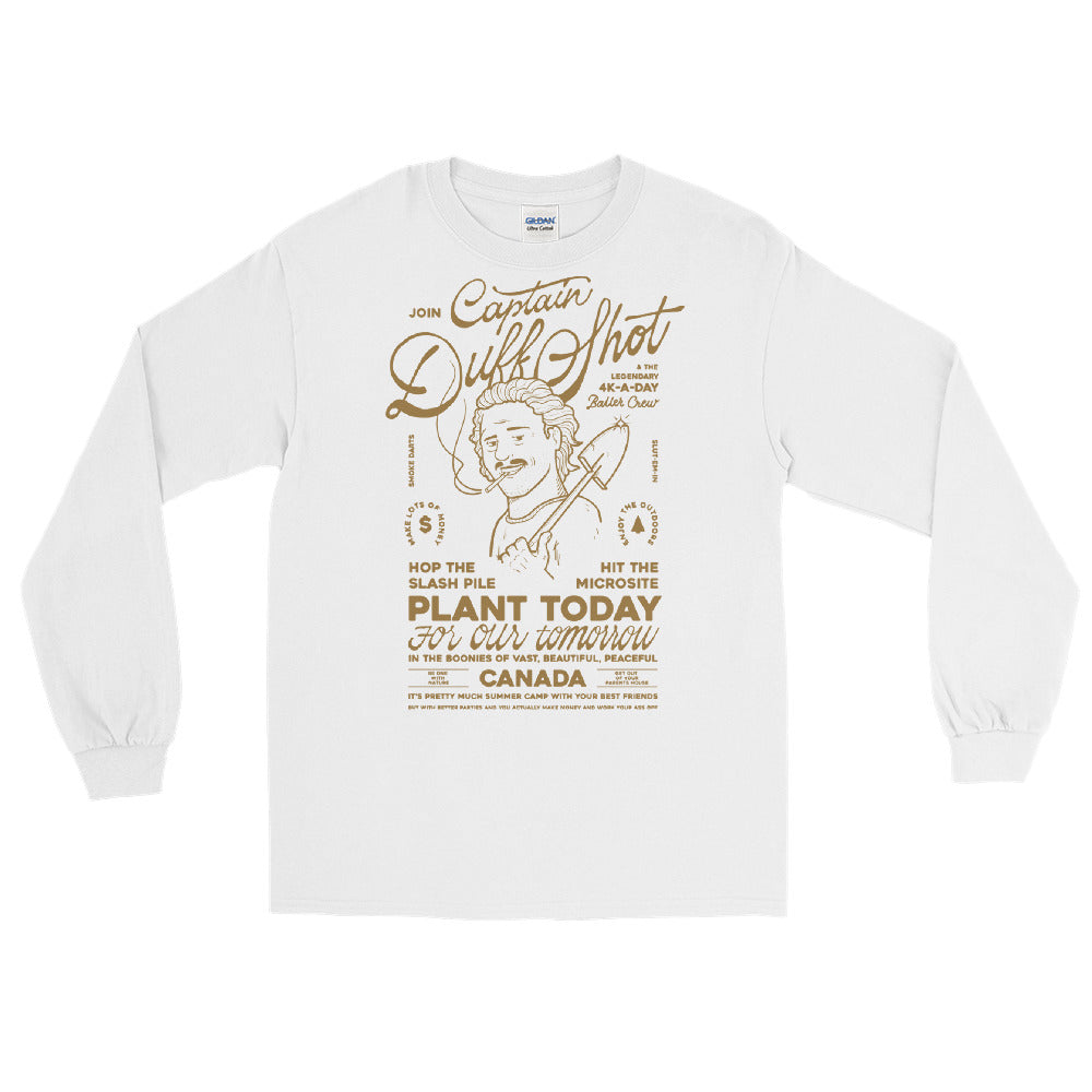 'Captain Duff Shot' Long Sleeve – Dirt Brown