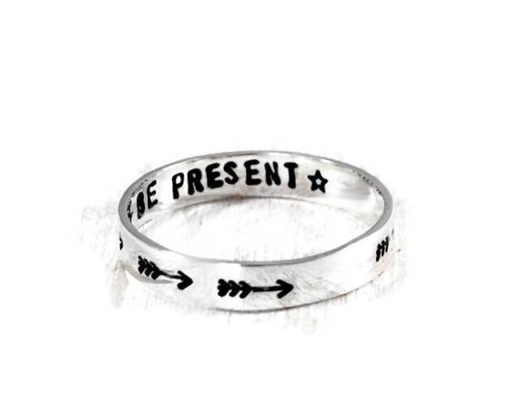 Meaningful personalized rings. Handmade Women's Rings. A great gift for girlfriend, wife, mother, sister etc. Women's jewelry. Hand stamped sterling silver rings for her.