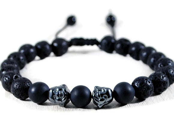 Buddha Men's Black Lava Adjustable Macrame Bracelet. Yoga Beaded Mala. Unisex Buddha Bracelet. Energy Healing Love Jewelry. DuoStef Jewelry Jewelry  Bracelets  Beaded Bracelets  wife daughter women  husband boyfriend  brother sister gift  Duo Stef yoga mens bracelet  Stone Jewelry men  motivational men  protection bracelet  stacking stackable  buddha accent bead yoga bracelet  Concentration Love  Cleansing Jewelry