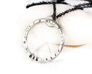 Men's Personalized Sterling Karma Necklace. Custom Men's Engraved Open Circle Pendant. Men's Rustic Silver Rolo Chain Necklace. By DuoStef Jewelry  Necklaces  Charm Necklaces  husband boyfriend  necklaces for guys  hand stamped men's  personalized men's brother sister  motivation necklace  duo stef jewelry  wife girlfriend  meaningful men  karma jewelry  mans karma necklace long boho necklace  hand stamped men