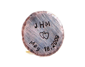 Personalized Golf Marker. Custom Hand Stamped Copper Golf Marker. Wedding Gift. Gift For Him. Fathers Day Gift. Valentines Day Gift. Personalized Copper,Brass,Nickel Silver Pocket Token. Engraved Rustic Keepsake For Him. Handmade By DuoStef