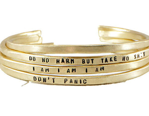 gold mantra band gold cuff bracelet Jewelry  Bracelets  Cuff Bracelets  Power Phrase bangle  mature  engraved cuff women  girlfriend wife  inspirational gift Mantra Band  gift for mothers day  Positive Jewelry  motivational jewelry  mother daughter  Duo Stef  wife girlfriend mantra bangle