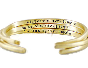 Custom Coordinates Brass Cuff Bracelet. Personalized GPS Cuff Bracelet. Latitude Longitude Bracelet mantra band Jewelry  Bracelets  Cuff Bracelets  personalized women  inspirational bangle  wife girlfriend  motivational jewelry gold rose gold cuff  mother daughter  sister best auntie  coordinates jewelry  husband boyfriend  gps coordinates gift Duo Stef  custom gps bangle  mantra bangle
